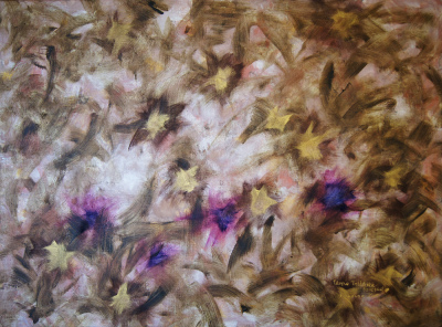 'The Golden Meadow' - contemporary art painting, original author's theme, classical and modern techniques. Capital investment - art and business.